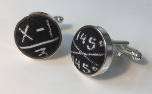 Cufflinks Funky Black Maths and Algebra