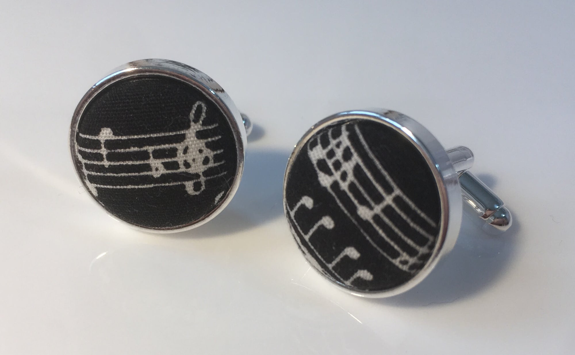Black Musical Notation Cufflinks