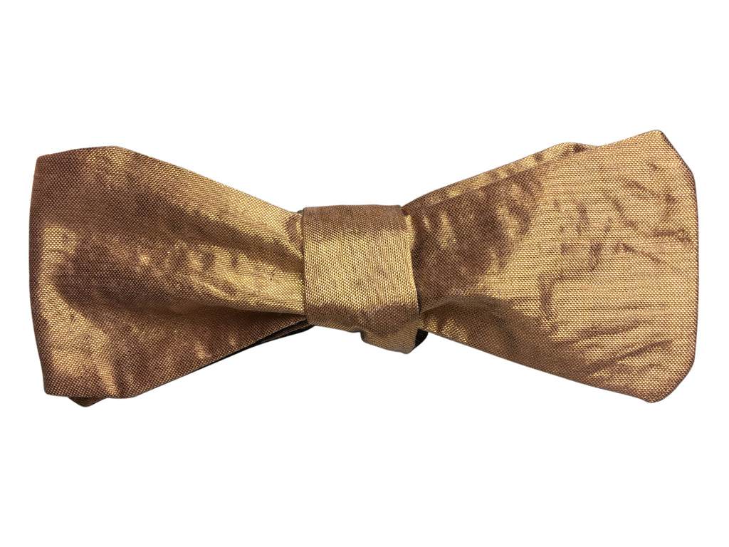 Black & Rose Gold Silk Multi-Way Bow Tie