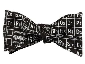 black science periodic table bow tie