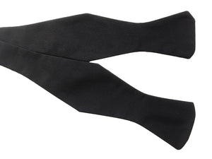 Black Silk Diamond Self-Tie Bow Tie
