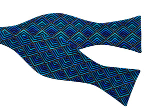 blue hypnotic bow tie