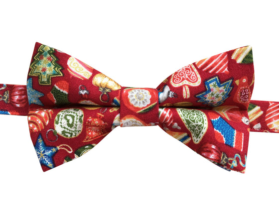 Christmas Baubles Bow Tie