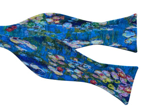 claude monet water lilies bow tie