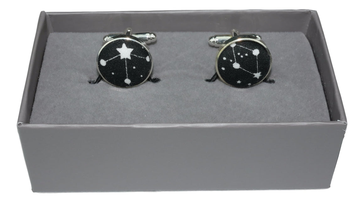 Cufflinks Black Stars and Astronomy