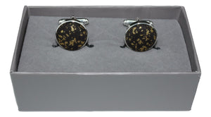 Cufflinks in Black and Gold