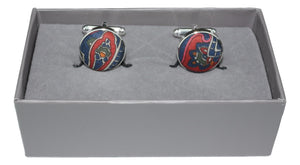 Cufflinks with Traditional Paisley Fabric by Liberty of London