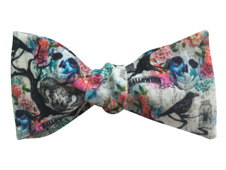'Day of the Dead' Halloween Bow Tie