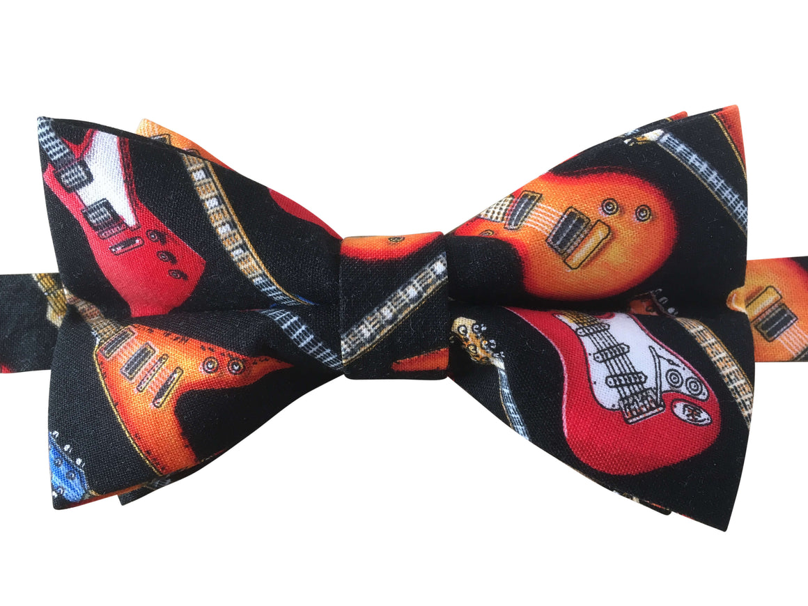 Funky Guitar Bow Tie