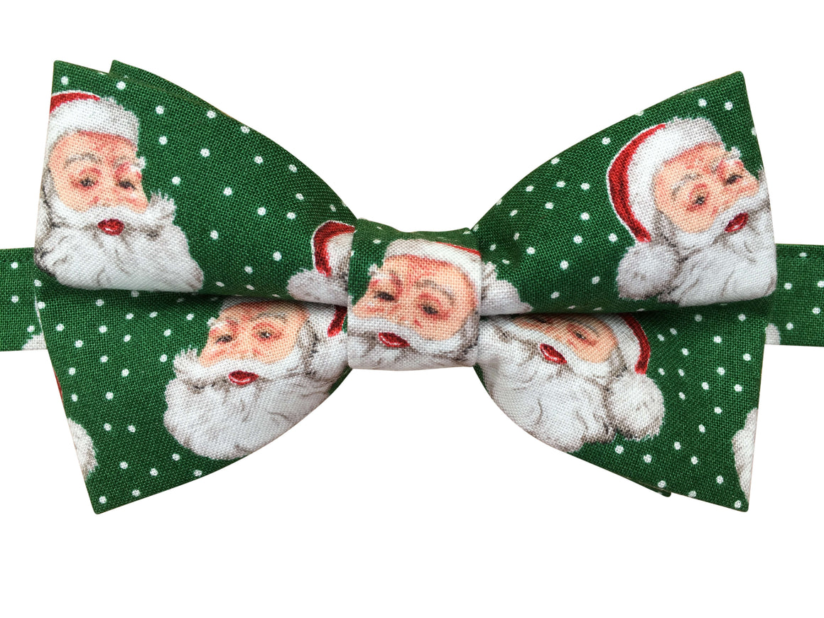 Festive Santa Clause Christmas Bow Tie