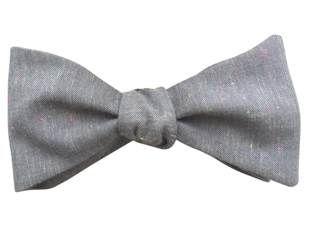 Grey & Neon Flecks Bow Tie