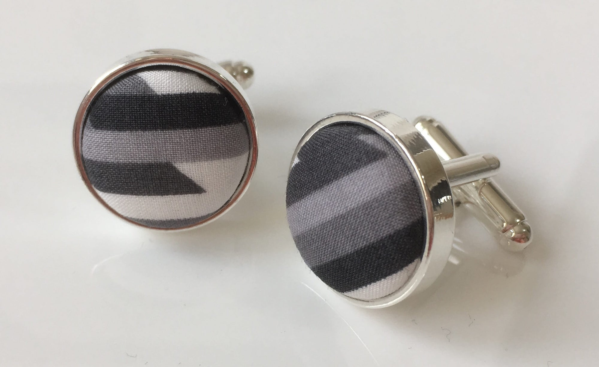 Abstract Grey Lines Cufflinks