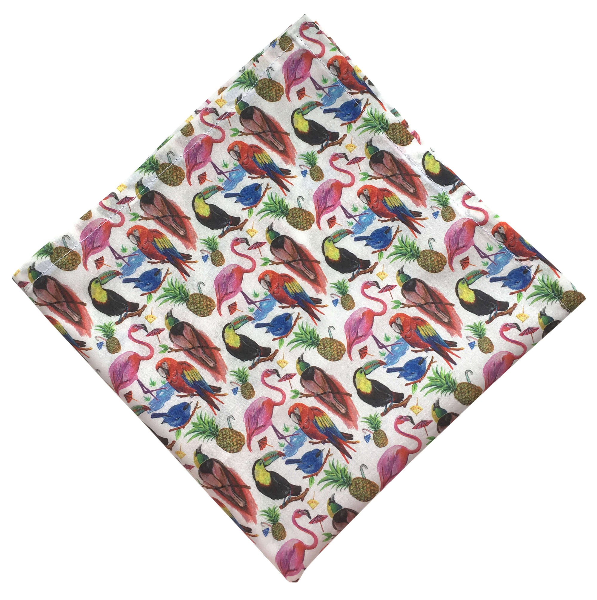Birds of Paradise Pocket Square
