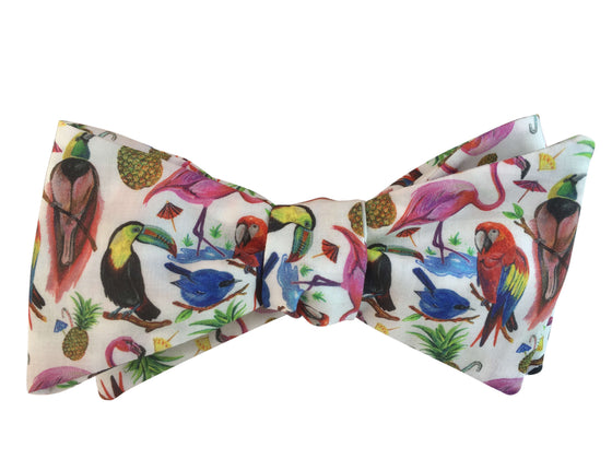 Birds of Paradise Self Tie Bow Tie