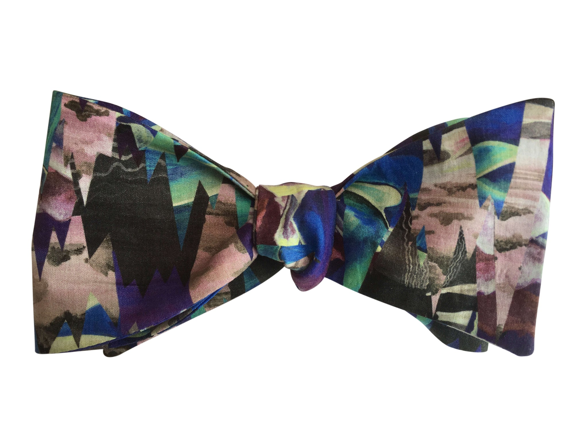 liberty print blue abstract desert landscape bow tie