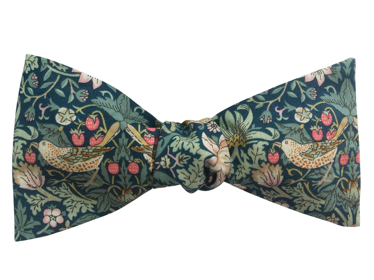 Blue Liberty 'Strawberry Thief' Bow Tie