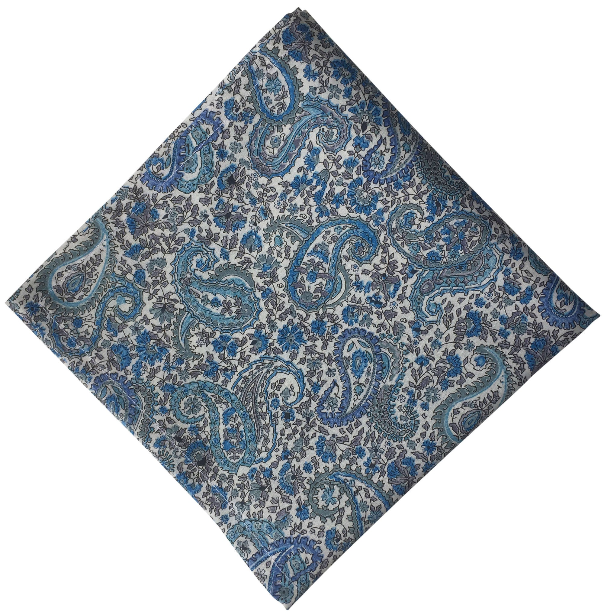 Liberty Blue Paisley Pocket Square