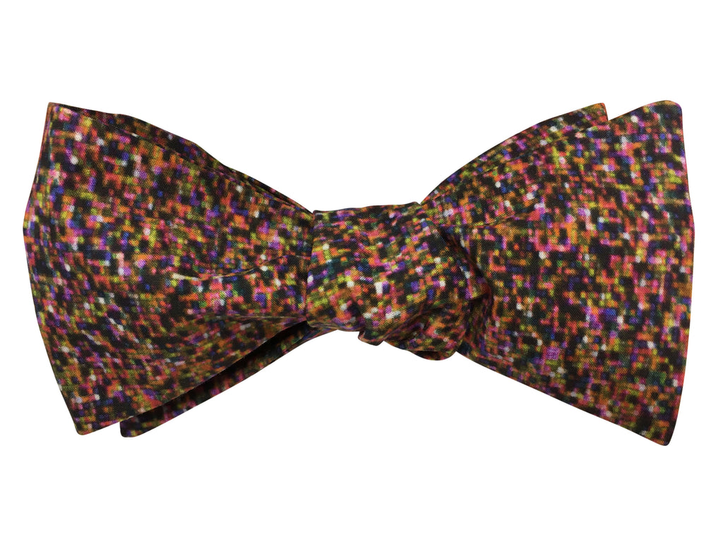 Funky Pixels Self Tie Bow Tie - Liberty of London Fabric