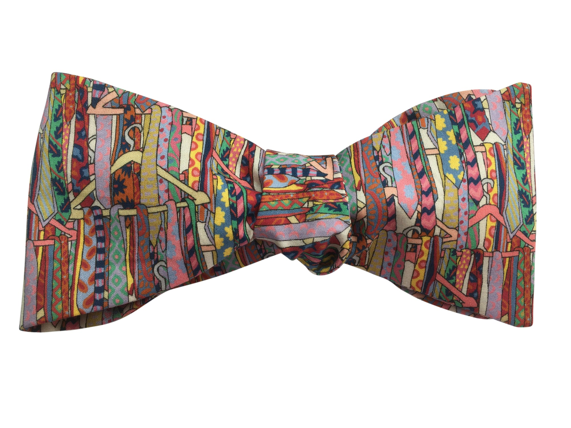 liberty print multicolour ties bow tie