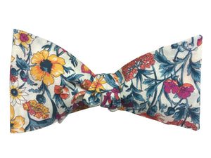 Floral cottage garden bow tie