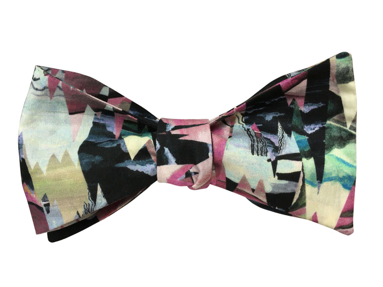 Abstract Landscape Self Tie Bow Tie - Liberty of London Fabric