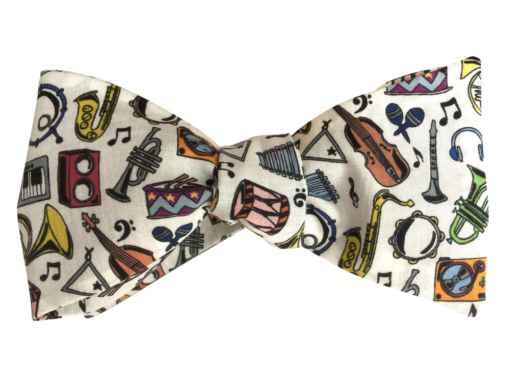 Funky Musical Bow Tie - Liberty Print Musical Instruments