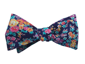 Purple Floral Self-Tie Bow Tie - Liberty Print