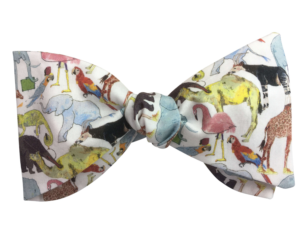 Colourful Zoo Bow Tie
