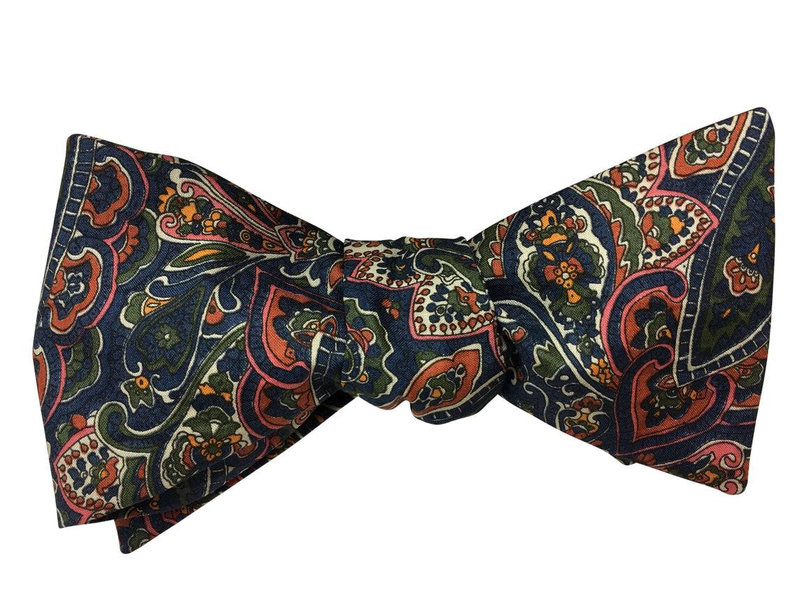 Traditional Paisley Self Tie Bow Tie - Liberty of London Fabric