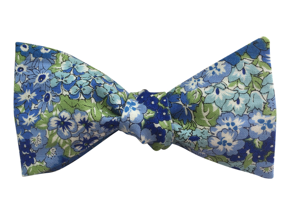 Blue Floral 'Wisely Grove' Bow Tie