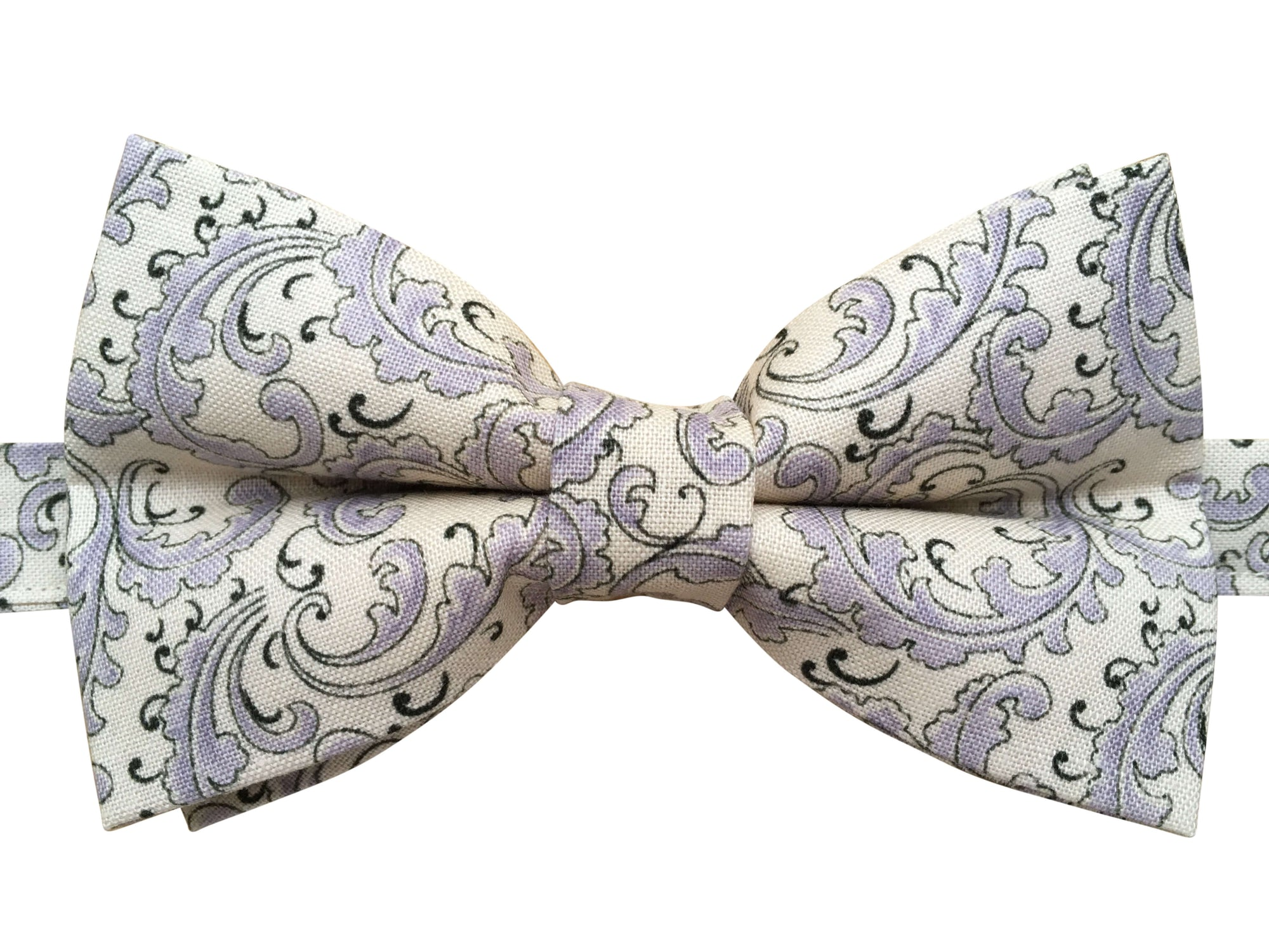 Lilac French Leaf Bow Tie