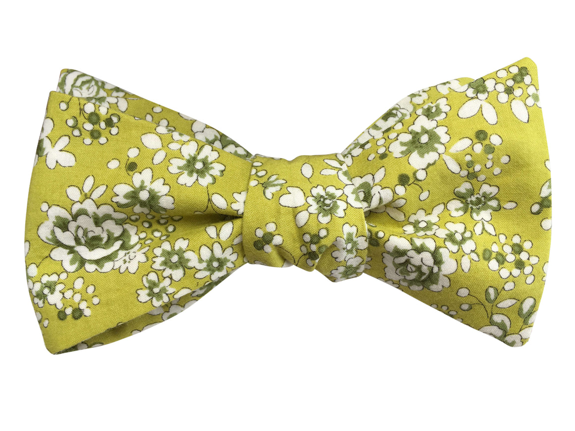 Lime Green and Rose Self-Tie Bow Tie
