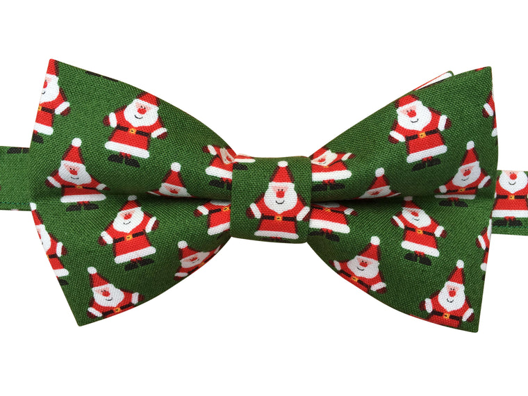 Festive Mini Santa Christmas Bow Tie