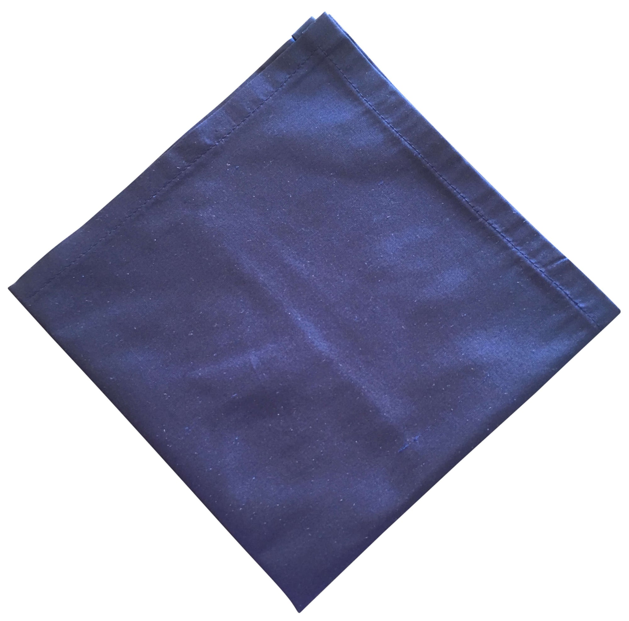 Navy Blue Silk Dupion Pocket Square