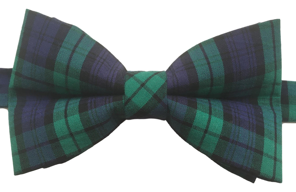 Green and Purple Tartan Bow Tie