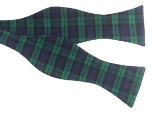 Green and Purple Tartan Self-Tie Bow Tie