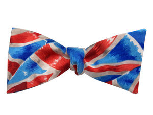 british union jack flags bow tie