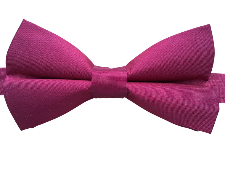 Pure Silk Bow Tie in Red