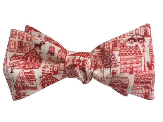 Christmas Town Bow Tie