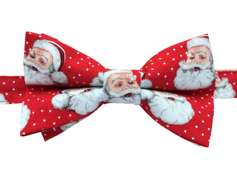 Festive Father Christmas Bow Tie