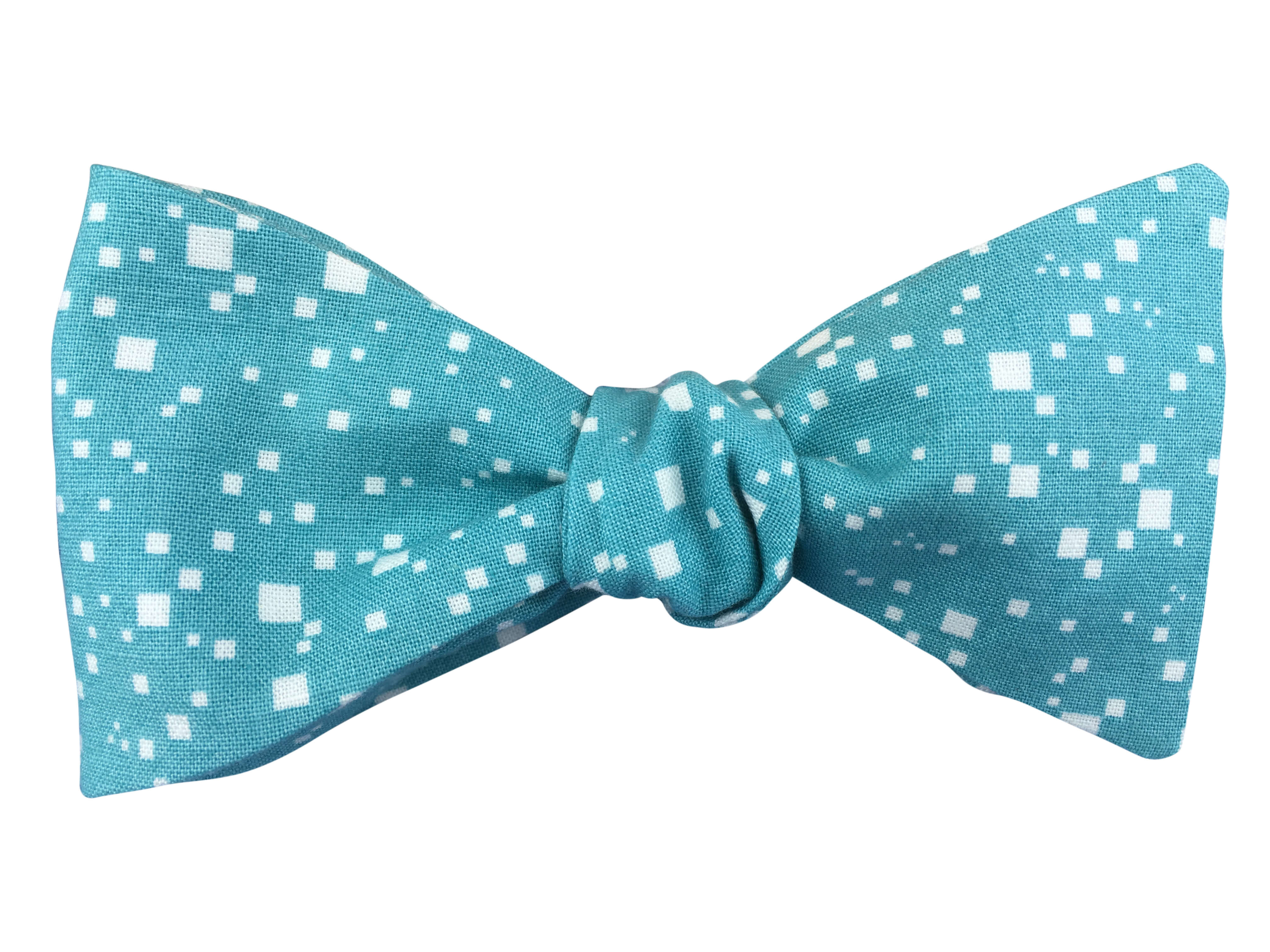 9e4f1edaacac Turquoise Pixels Self-Tie Bow Tie - Blue Eyes Bow Ties
