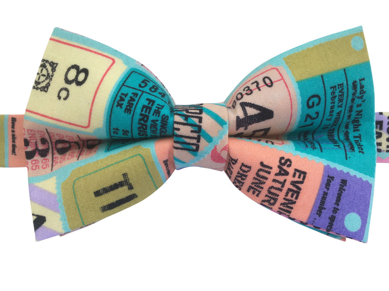 Vintage Tickets Bow Tie