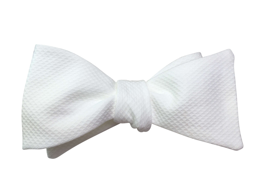 White Marcella Self-Tie Bow Tie