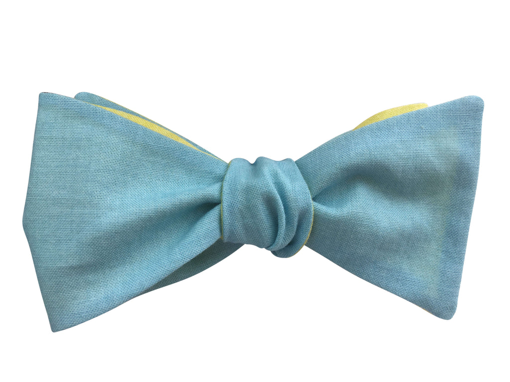 Blue & Yellow Multi-Way Bow Tie