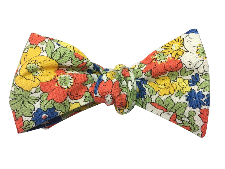 Retro Floral Bow Tie - Liberty Print