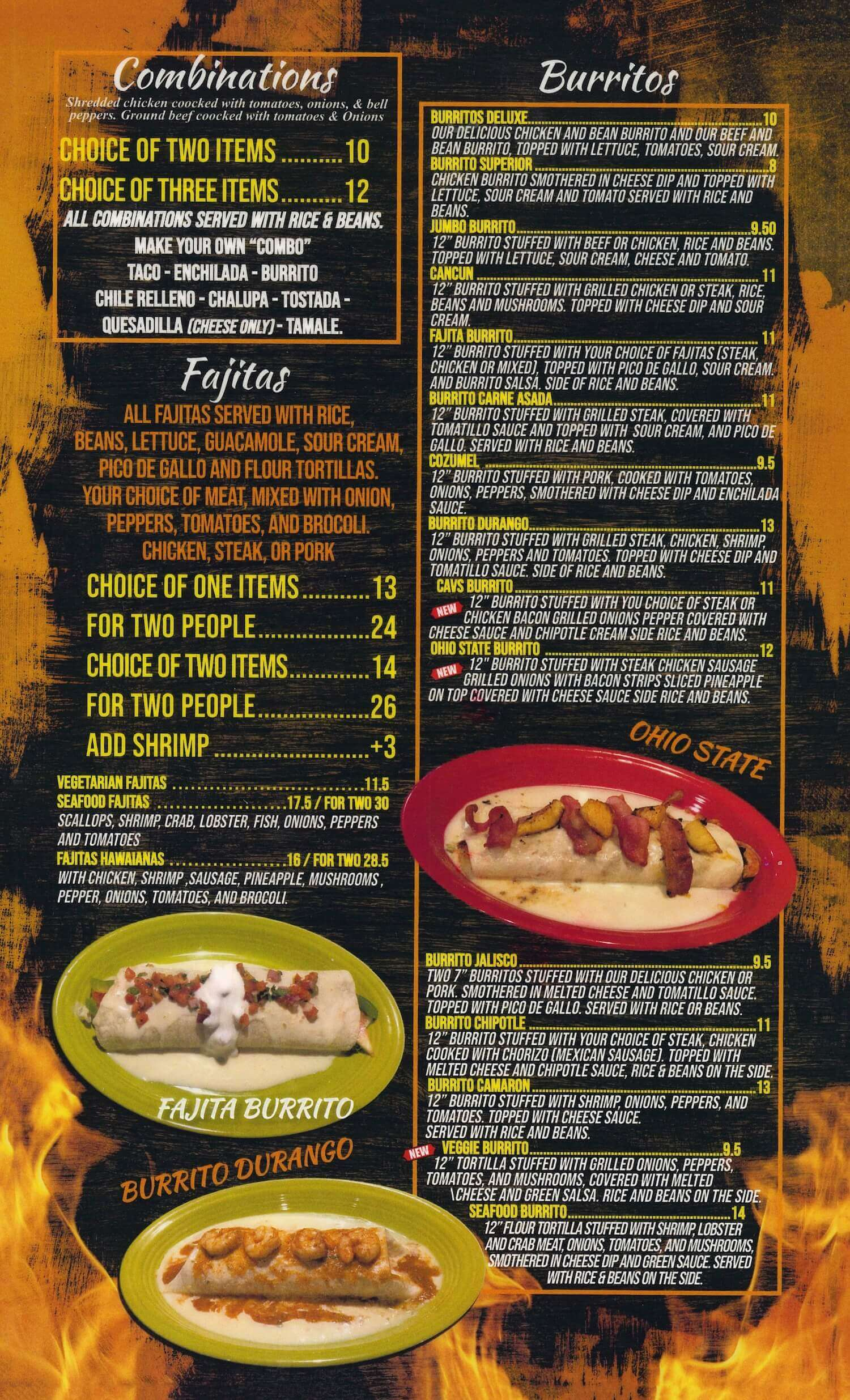 Don Tequila Mexican Restaurant Canton Menu