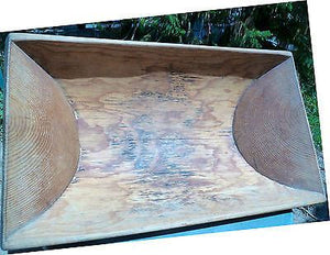 CYPRUS ANTIQUE WOODEN BAKING POT,HANDMADE,37''X21.25''OLD,EXCELLENT - moneyworld-store