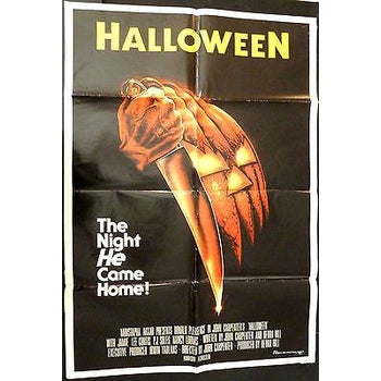 HALLOWEEN 1978 MOVIE POSTER* 1SH ORIGINAL,CENCORS,EXCELLENT,FOLDED-moneyworld-store