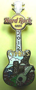CYPRUS 2012 *GRAND OPENING * HARD ROCK CAFE GUITAR PIN *LE 300 !!! DISCONTINUED-moneyworld-store