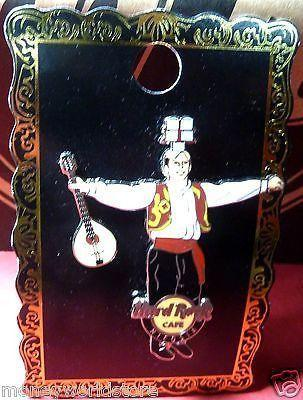 HARD ROCK CAFE CYPRUS -NICOSIA*GREEK DANCING MAN GUITAR PIN*LIMITED discontinued-moneyworld-store